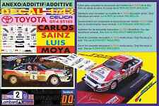 ANEXO DECAL 1/43 TOYOTA CELICA GT4 ST165 C.SAINZ RAC R. 1990 WINNER (03)