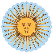 "Argentina Sun of May Sol de Mayo car bumper sticker window decal 4"" x 4"""