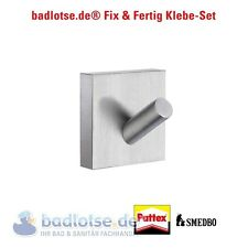 SMEDBO HOUSE matt Handtuch-Haken RS355 Klebe-Set ohne Bohren Kleben Kleber