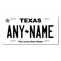 Personalized Texas License Plate for Bicycles, Kid's Bikes & Cars & Trucks Ver 4