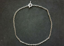 Sterling Silver Fob Chain Necklace.