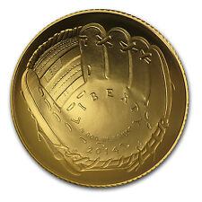 2014-W Baseball Hall of Fame $5 Gold Commemorative Coin BU (w/Box & COA)