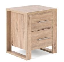Christow Oak Effect 2 Drawer Bedside Table Bedroom Cabinet Nightstand