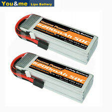 2pcs 4S 6200mAh 14.8V 50C LiPO Battery for RC Airplane Helicopter Traxxas Truck