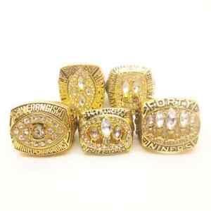 SET 5 PCS + BOX San Francisco 49ers Championship rings NFL