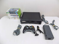 Like New Xbox 360 Console 120 GB + Wireless Controller + 10X Games
