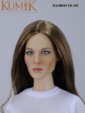 "1/6 Scale Female Head Sculpt KUMIK 16-35 For 12"" Hot Sideshow Toys TTL HT Body"