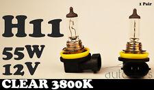 2 x H11 12V 55W Clear Yellow 3800k Halogen Car Head Light Fog Lamp Globes Bulbs
