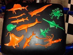 Cereal Premium 1968-69 Creatures of the Sea Complete  12 PC  Nabisco
