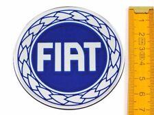 FIAT★ 4 Stück ★ SILIKON Ø70mm BLAU Aufkleber Emblem Felgenaufkleber Radkappen