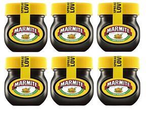 6 x Small Jars Of Marmite Yeast Extract Spread 6 Jar 70G