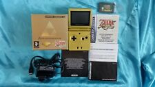 Game boy Advance SP CONSOLE Limited Edition Gold Zelda Pak + Minish Cap RARE GBA
