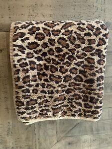Vtg Ralph Lauren Leopard Aragon Bath Towel Brown Animal Print USA Made