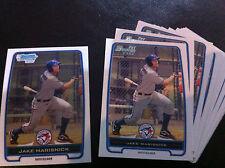 2012 Bowman BCP/BP23 Jake Marisnick Marlins/Blue Jays 18 ct;17 base,1 chrome lot