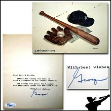 George Steinbrenner Signed New York Yankee Baseball Post Card - JSA