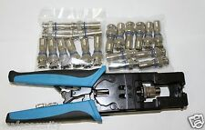 3 in 1 Compression Tool BNC,RCA /RG59, RG6 and RG59 BNC Compression Connectors