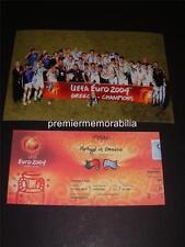 GREECE UEFA EURO 2004 FINAL CHAMPIONS ANGELO CHARISTEAS ZAGORAKIS DELLAS