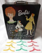 Vintage Barbie Trunk Case 1963 Black Stormy Weather With 9 Hangers