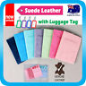 Passport Holder Travel Wallet Cover Leather Case Protector Card Organiser +Tag