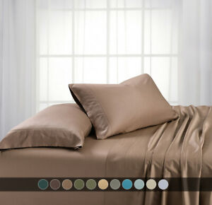 Split Top King Head Split Pure Bamboo One Fitted Sheet Only 600 Thread Count