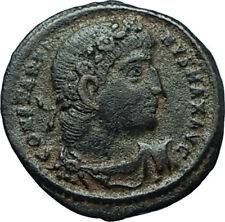 CONSTANTINE I the GREAT 330AD Authentic Ancient Roman Coin w SOLDIERS i66350