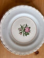 6 pretty vintage/antiique tea plates J&G Meakin Blue with pink roses sol 391413