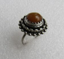 Russian Latvian Silver 875 Baltic  Amber Ring  7,4 gr.