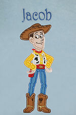 Woody (Toy Story) Personalised Super Soft Fleece Baby Blanket - BLUE