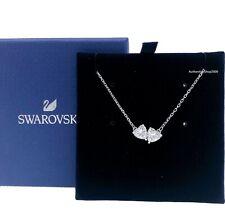 SWAROVSKI Rhodium Sparkle Crystal Attract Soul Hearts Pendant Necklace 5517117