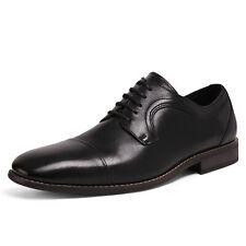 Bruno Marc Mens Black Cap Toe Lace up Oxford Dress Shoes Size US 12
