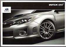 Subaru WRX STi Type UK 2010-11 UK Market Sales Brochure 4-dr 5-dr Impreza