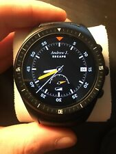 K8 3G GPS unlocked Smartwatch Phone round dial display BLACK standalone Android