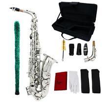 Saxophone Sax Eb Be Alto E Flat Pattern Exquisite with Accessories Kit Case T7E0