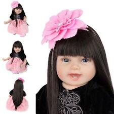 Reborn Baby Girl Princess Realistic Toddler Doll Gift Toy Handmade Lifelike Aliv