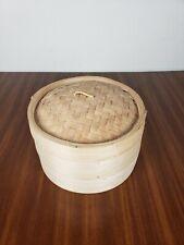Vintage Bamboo Oriental Stacking Drying Racks Storage Boxes