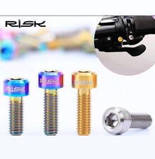 2x RISK TC4 Titanium Presta Valve Cap Dust Cover Bike Bicycle DIY Parts