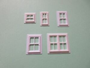 """3 D Printed  Sash windows    """"00""""  for Scratch  Building  Choice of sizes"""