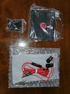 Beats by Dr. Dre urBeats3 In-Ear Headphones - Black/Red with travel bag!