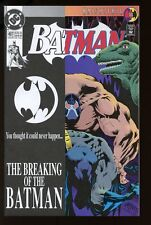 BATMAN #497 NEAR MINT 1993 BANE BREAK BATMAN'S BACK DC COMICS bin-2017-0639
