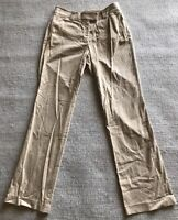 "FACONNABLE PANTS  Women's Sz 6 BEIGE Cotton/Spandex 32"" Inseam MINTY! #D1"