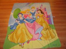 Disney Four Princess Lightweight Blue Fleece Throw 45 X 60 In. - Pretty!