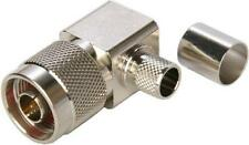 5 x N Crimp Male RG213 - Right Angle Connector Adaptor