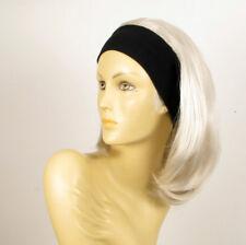 parrucca con bandana elastica corta bianca ref MADY 60 PËRUK