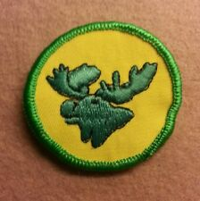BSA  PATROL MEDALLION PATCH - MOOSE - 1972 - 1989  - PRE-OWNED   A00360