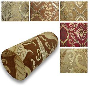 Bolster Cover*Damask Chenille Neck Roll Tube Yoga Massage Pillow Case Custom*Wk4