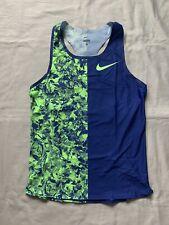 New Nike Pro Elite 2019 Mid-Distance Singlet Sz L Blue Green