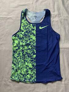 New Nike Pro Elite 2019 Mid-Distance Singlet Size Medium Blue Green
