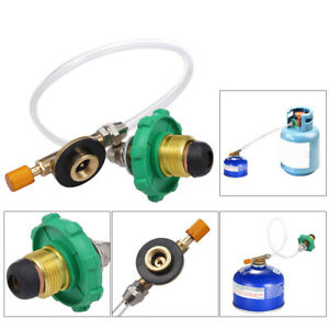 Outdoor Camping Cooking Stove Propane Refill Adapter Flat Cylinder Tank Coupler
