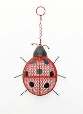 Bird Feeder Metal Mesh Ladybug  Fun Seed Feeder