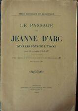 Le Passage de Jeanne D'arc dans les Pays de l'Yonne